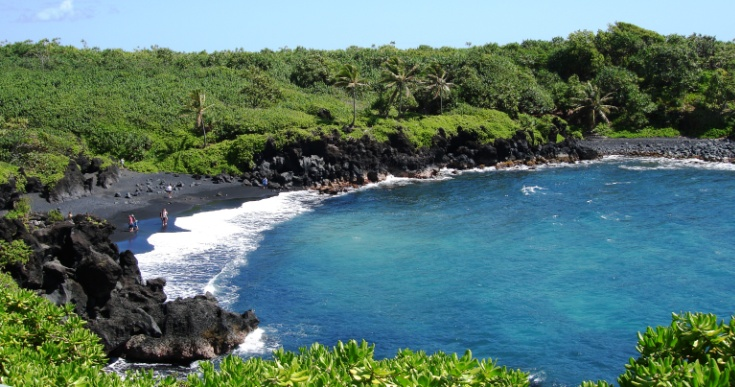 Hawaii Maui Black Sand Beach